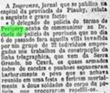 Desordeiros invadiram Peripery em 1884