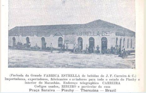 A fábrica de bebidas Estrella na Praça Saraiva-Teresina