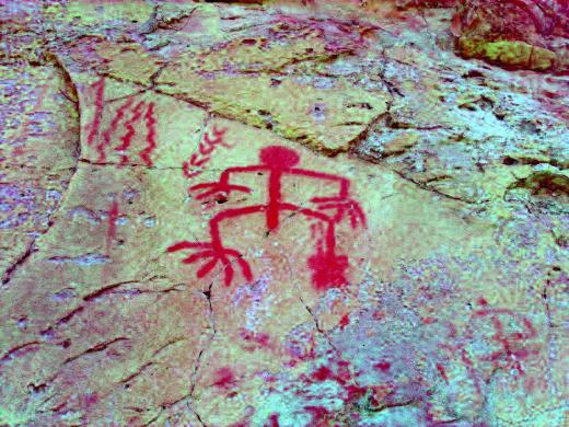 """A enigmática pintura rupestre """"pedra do esqueleto"""" no município de São José do Divino – Piauí"""