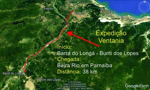"""Expedição pelo """"Velho Monge"""", 38km de caiaque da Barra do Longá até Parnaíba, uma aventura com ventania e belas paisagens"""