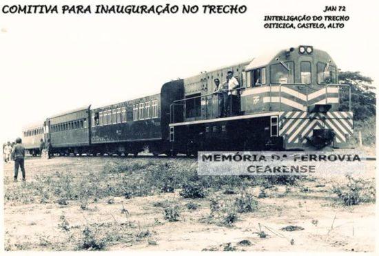 A inauguração da Estação Ferroviária de Castelo do Piauí
