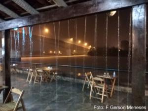 Noite chuvosa no Porto das Barcas em Parnaíba-Piauí