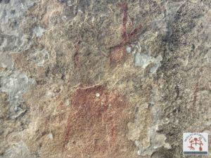 Arte rupestre muito apagada