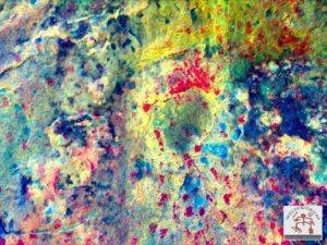 Arte rupestre com aplicação de filtro da ferramenta DsTretch