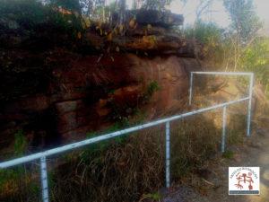 Proteção do painel de arte rupestre