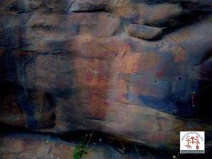 Painel de arte rupestre