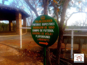 Placa indicadora do Parque Ambiental