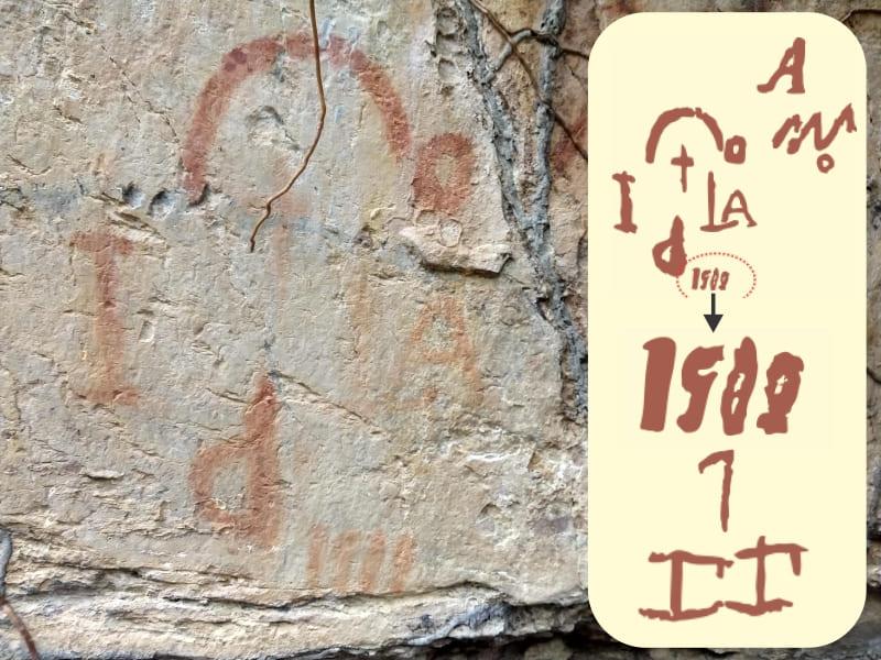 """O enigma das pinturas rupestres em formato de """"algarismos"""" e """"letras"""" deixadas  na margem do Riacho Palmeira em Piracuruca"""