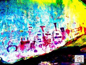 Arte rupestre - realce com Dstrecth
