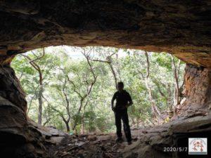 Vista de dentro da gruta