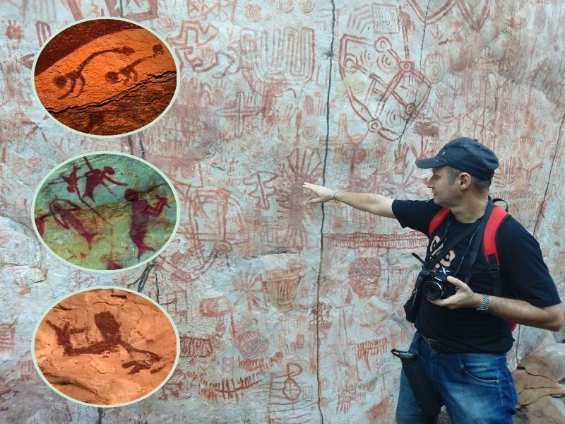As pinturas rupestres que lembram sereias e outros seres mitológicos, alimentam as lendas pelo mundo