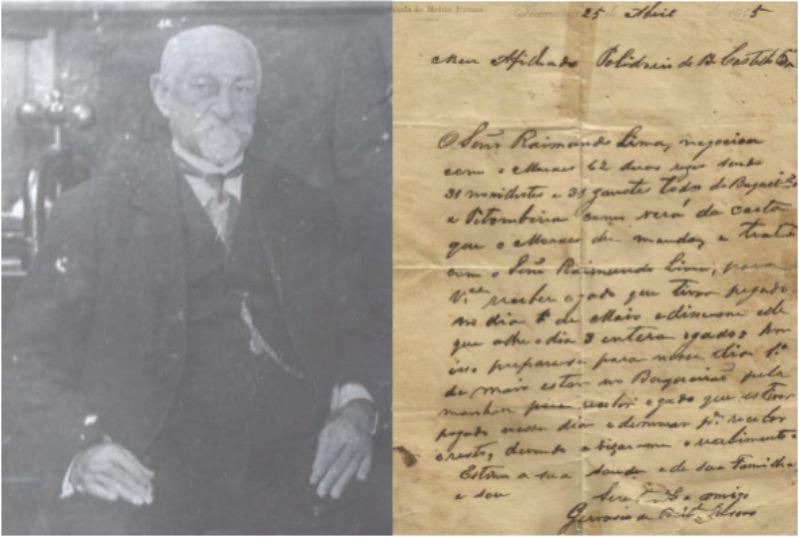 Uma carta de 1915 enviada pelo Senador Gervásio de Brito Passos ao patriarca dos Polidoro de Brito