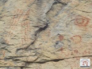 Painel com pintura rupestre