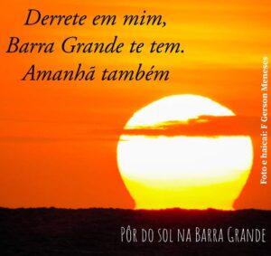 Pôr do sol na Barra Grande - Litoral do Piauí