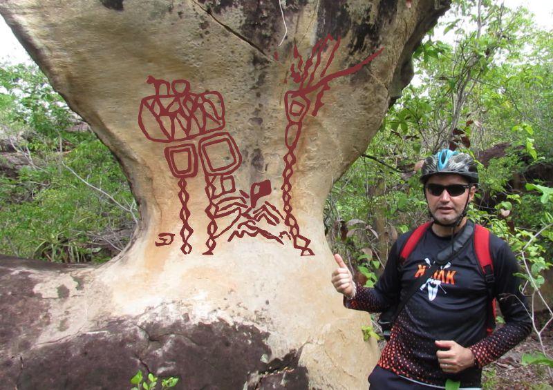 O magnífico monólito da localidade São João do Adelino em Piracuruca-Piauí-Brasil. Seria usado como uma espécie de totem?