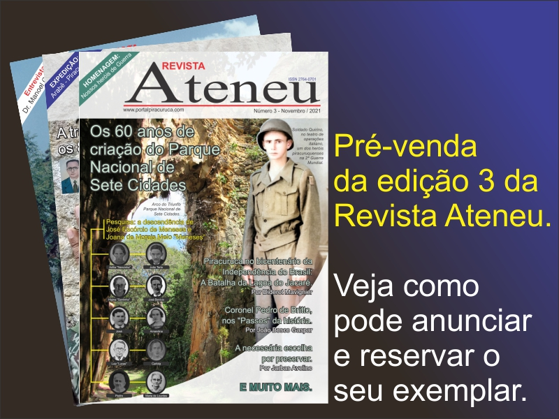 Pré-venda da Revista Ateneu 3, veja as novidades, como anunciar e reservar o seu exemplar